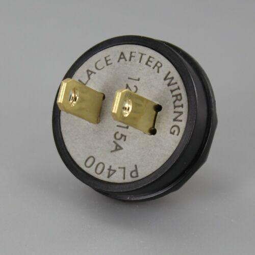 BUTTON STYLE ~ Antique Look Reproduction Lamp Plug ~ BLACK