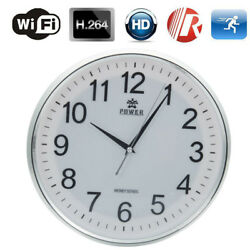 HD 720P Wireless Wifi IP  Hang Wall Clock Camera Digital Realtime Record Camera