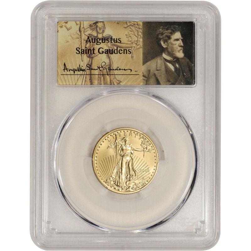 2016 American Gold Eagle 1/4 oz $10 - PCGS MS70 St Gaudens Label