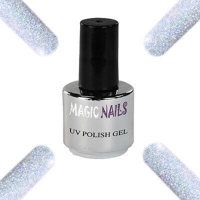 UV Polish Soak Off Gel Nail Art Nagellack Farbe # Platinum