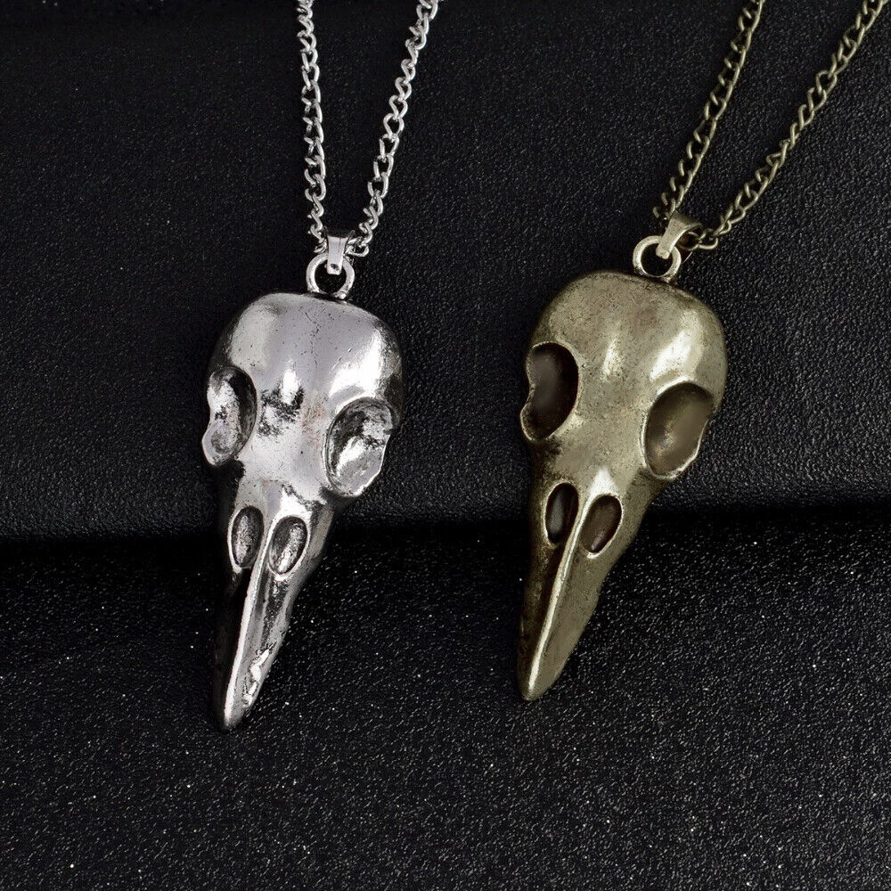 collier homme corbeau