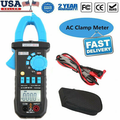 Digital Clamp Meter Tester Ac Volt Amp Multimeter Auto Ranging Current 600a