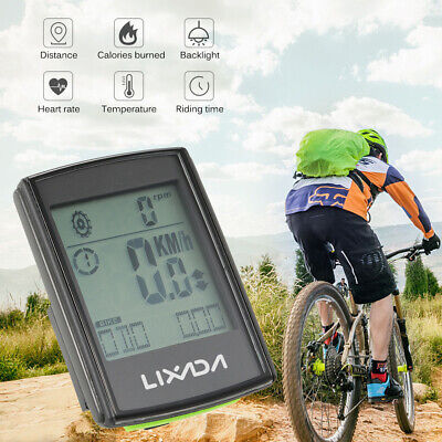 Lixada Wireless Bicycle Cycling Computer with Cadence Heart Rate Monitor H3B3 Wireless Cadence Cycle Computer