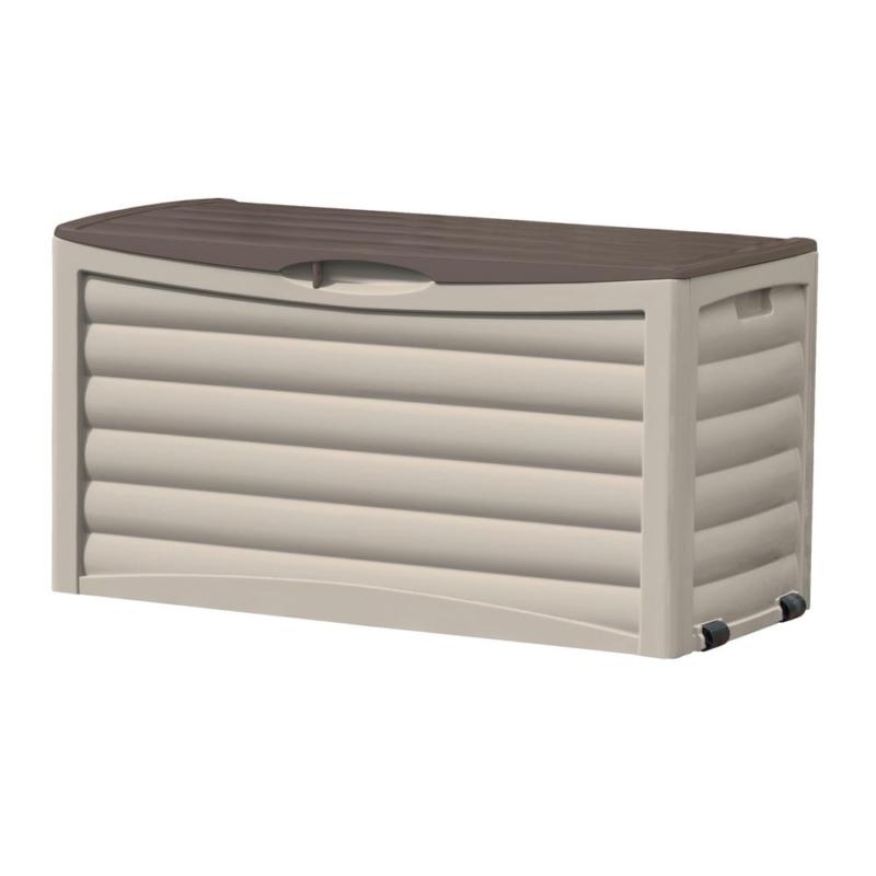 Storage Deck Box Resin For Garden Outdoor Backyard Organiser