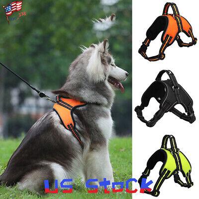 Collar Harness - Reflective Large Dog Harness Pet Collar for Labrador Husky Collie Bulldog USA