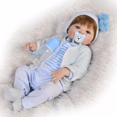 KEIUMI 57cm Full Body Junge Reborn Baby Puppen Alle weichen Silikon Körper Dolls ()