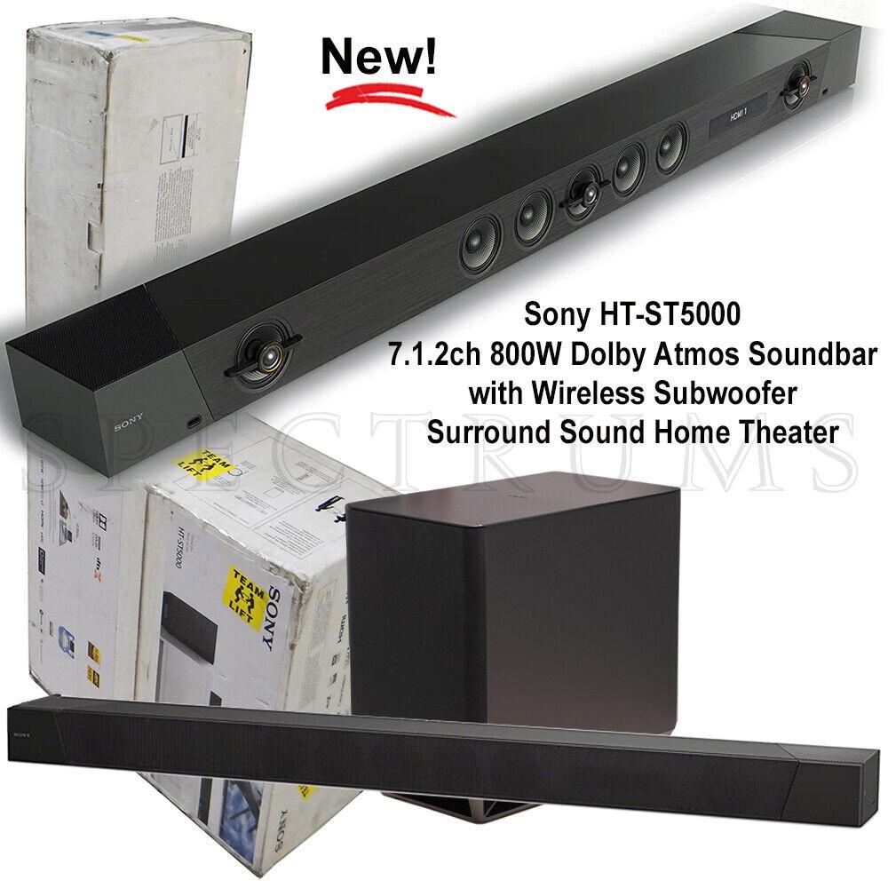 Sony HT-ST5000 7.1.2ch 800W Dolby Atmos Surround Soundbar w/
