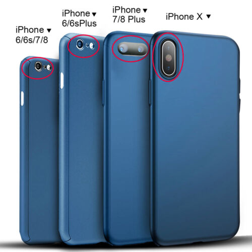 Ultra Thin Hard Case Cover For iPhone XS Max XR X 8 7 6S Plus + Tempered Glass