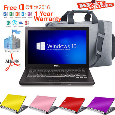 FAST Dell Laptop Windows 10 DVD Intel Core2Duo 4.0Ghz WIFI 4GB OFFICE SSD HDD