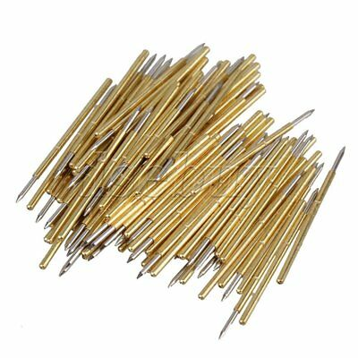 100pcs P50-b1 Spring Tip Test Probe Receptacle Pogo Pin 0.68mm Dia 3a