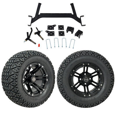 "GTW 5"" EZGO TXT Golf Cart Lift Kit With A/T Tires & 12"" Wheels Fits 2001.5-Up"
