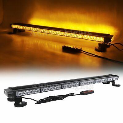 38 Led Double Side Amber Flash Warning Wrecker Emergency Roof Strobe Light Bar