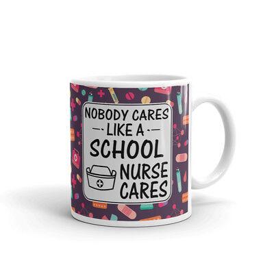 Nobody Cares Like School Nurse Cares Coffee Tea Ceramic Mug Office Work Cup - School Nurse Gifts