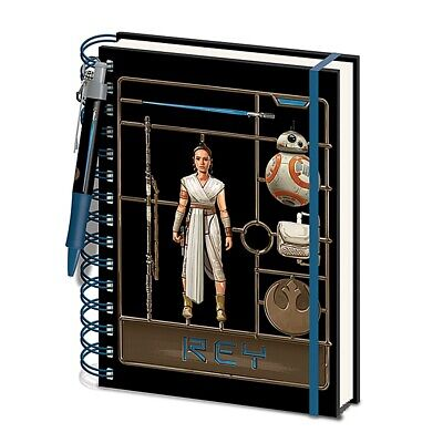 Genuine Star Wars Rey The Rise Of Skywalker A5 Wiro Hardback Notebook Pen Set
