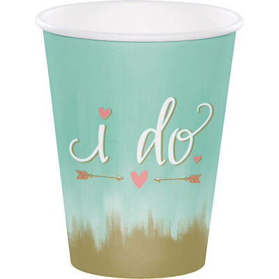 12 Ounce To Cup (24 Mint To Be 12oz. Premium Paper Cups Bridal Shower Wedding Reception)