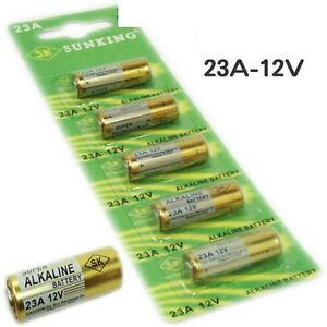 5 x pile batterie alkaline 23a 12v pila batteria alcalina - Pile 12v 23a ...