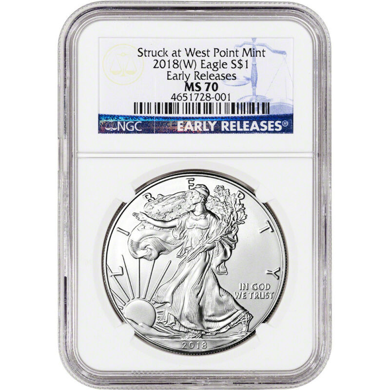 2018-(W) American Silver Eagle - NGC MS70 - Early Releases
