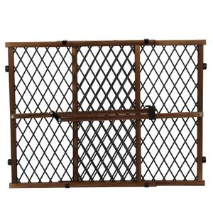 NEW Evenflo Position and Lock Farmhouse Pressure Mount Gate, Dark Wood Condition: New