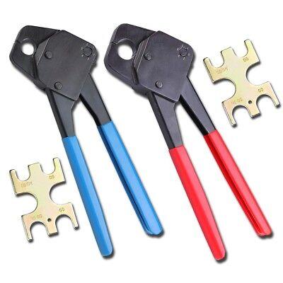 2 Pex Crimper 12 And 34 Plumbing Crimping Gonogo Set Angle Gauge Tools Combo