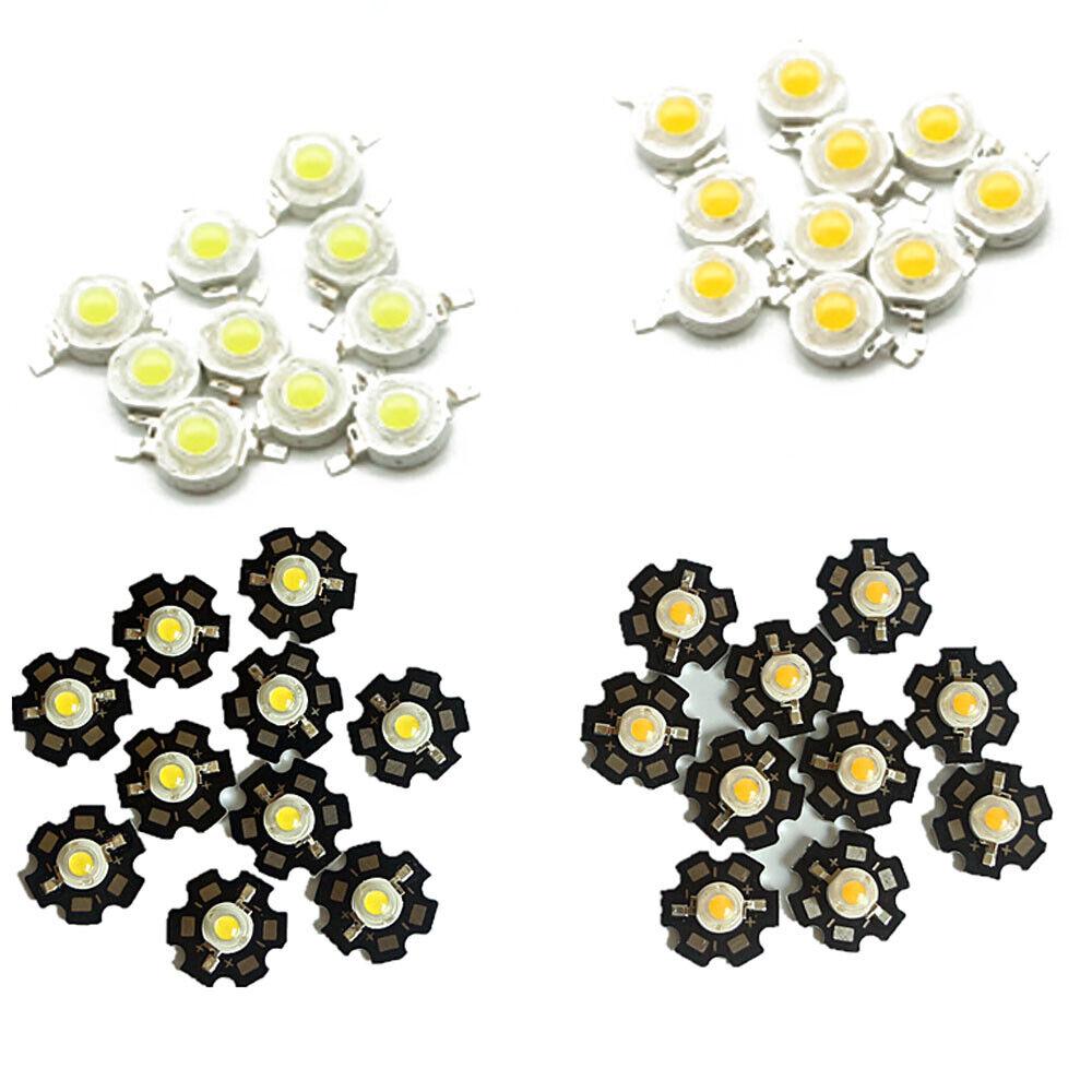 LED COB Lamp Chip 1W 3W 3.2-3.6V Input 100-220LM Mini LED Bulb Diode 10-1000Pcs
