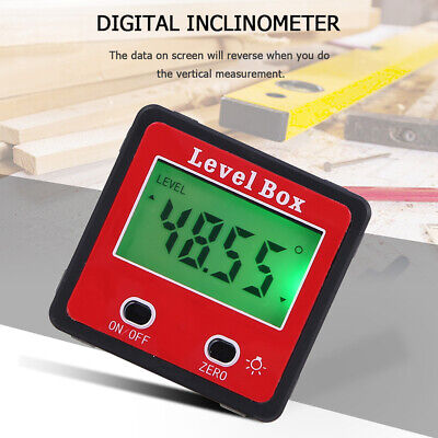 Digital Lcd Protractor Gauge Level Angle Finder Inclinometer Magnet Meter R1j5