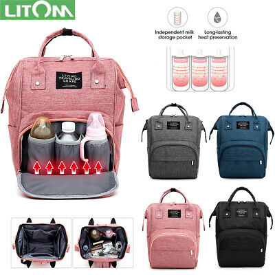 LITOM Nappy Diaper Mummy Bag Multifunction Travel waterproof Large Baby Backpack