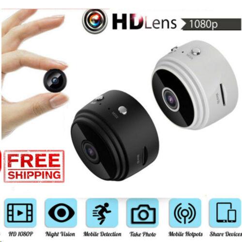 Mini Camera Wireless Wifi IP Home Security 1080P DVR Night Vision Remote Cam US