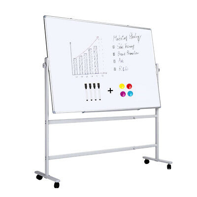 Double-sided Magnetic Whiteboard With Standcome With Magnets And Markers48x36