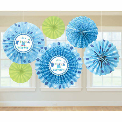 Baby Boy Blue  Decorating Kit for Baby Shower  - 6 Piece Set for It's a Boy