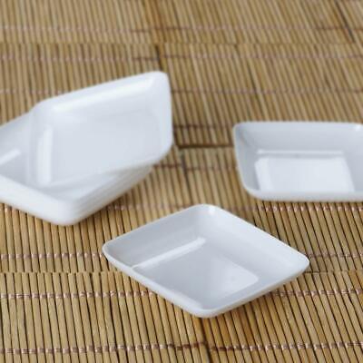 24 /pk  White Mini Plastic Disposable Dessert Plate Wedding Party cater