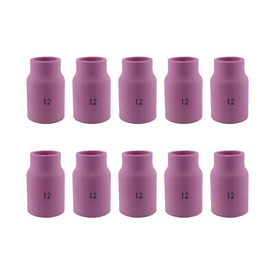 10-pk 53n87 12 34 Large Ceramic Gas Lens Cup Nozzle For Tig Welding Torch