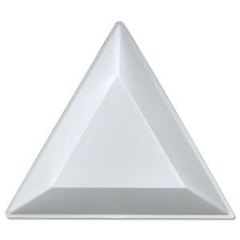 20 Bead Sorting Trays Triangle White Plastic 3x3x3 Inch