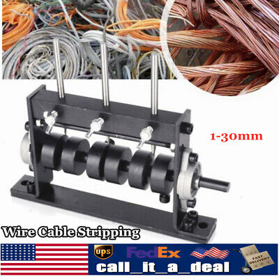 Manual Wire Cable Stripping Peeling Machine Scrap Stripper Tool 1-30mm 4 Blades