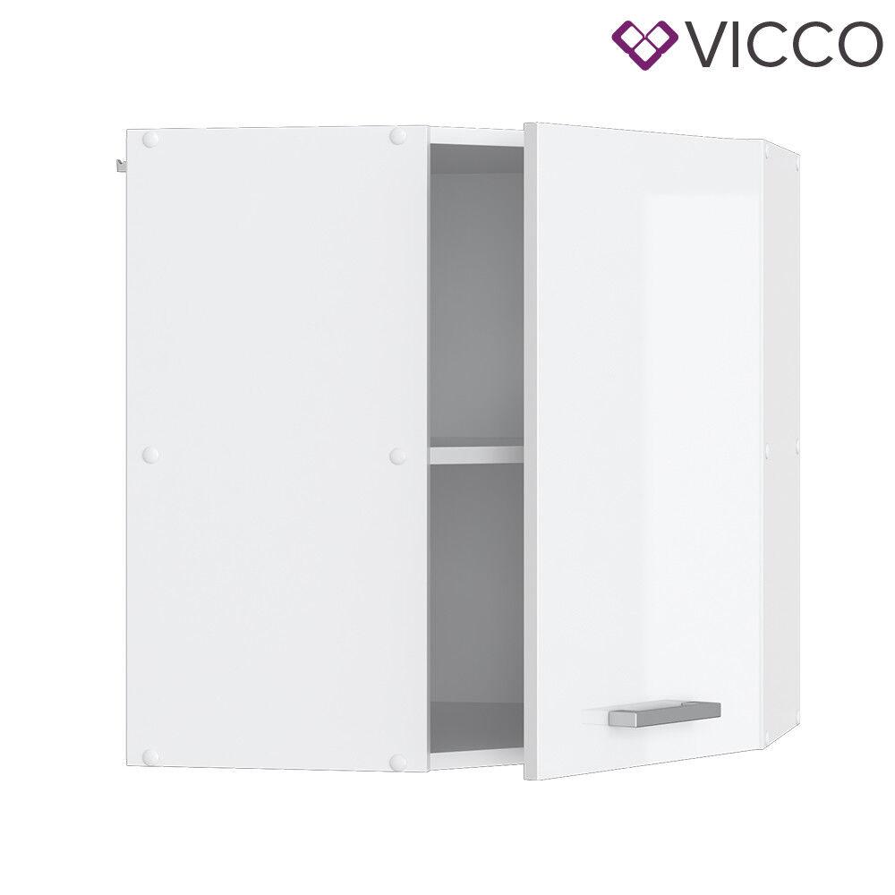 VICCO Küchenschrank Hängeschrank Unterschrank Küchenzeile R-Line Eckhängeschrank 57 cm weiß