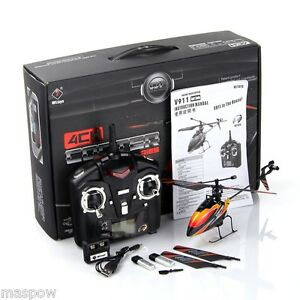RTF V911 4CH GYRO 2.4GHz Mini Radio RC Control Single Blade Helicopter Outdoor