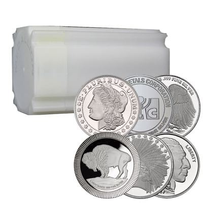 1 oz Silver Rounds | Lot of 20 Direct From Mint In Sealed Tube
