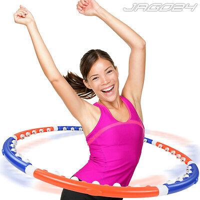 Hula-Hoop Reifen Hula Hoop Hooping Fitnessreifen Fitnessgerät Massagenoppen NEU