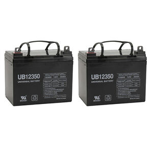 UPG 2 Pack - 12V 35Ah Pride Mobility Jet 3 Ultra Wheelchair Replacement Battery