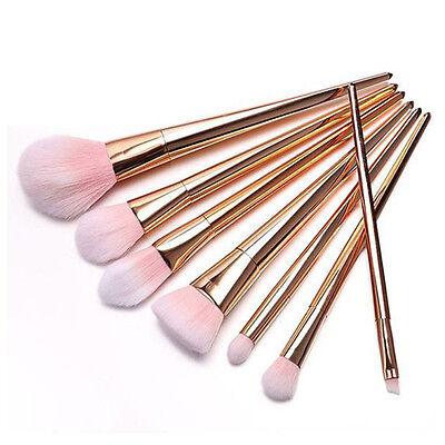 (Pro 7pcs Makeup Brushes Set Powder Foundation Eyebrow Face Lip Cosmetic Brushes)