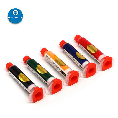 Red Uv Curable Solder Mask Pcb Repairing Fixing Anti Corrosion Paint 10ml
