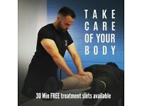 30 Min FREE massage treatment slots available. Book in today!