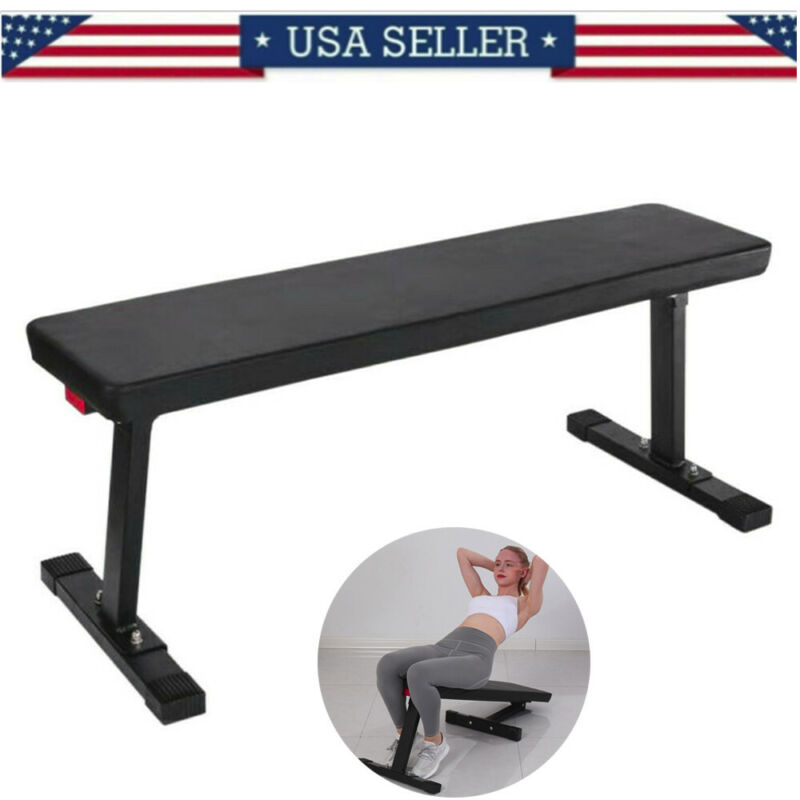 Strength Flat Utility Bench Weight Lifting Gym Workout Fitne