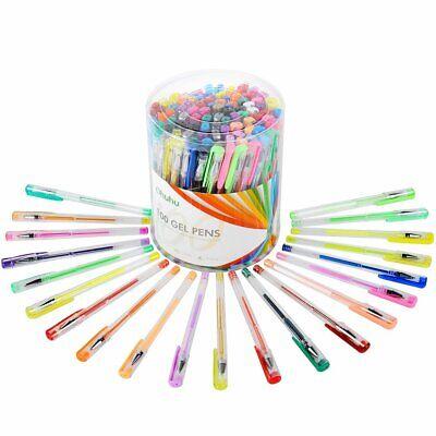 100 Gel Pen Set For Coloring Books Best Neon Pastel Metallic Glitter Art (Best Art Pens For Coloring)