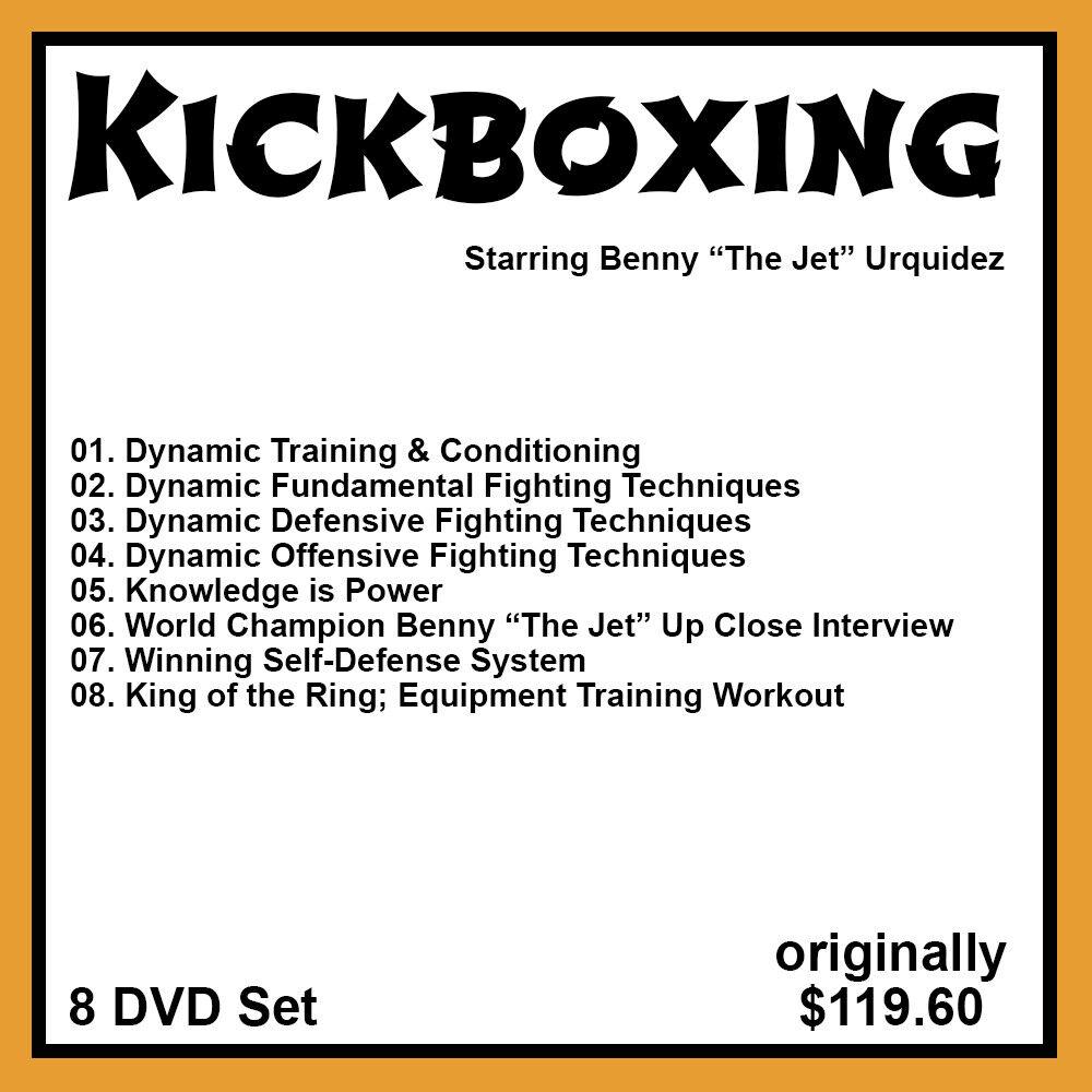 как выглядит Benny Urquidezs Dynamic Training and Kickboxing Series 8 DVD Set фото