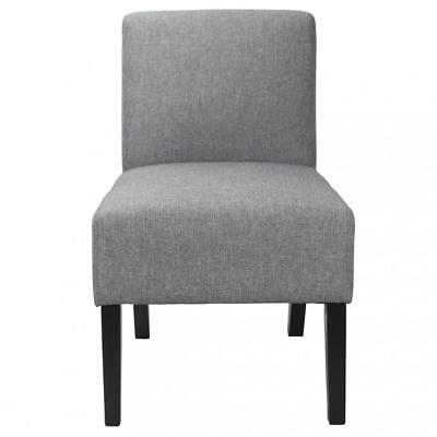 New Modern Design Fabric Armless Accent Dining Chairs with Solid Wood Legs 255 Chairs