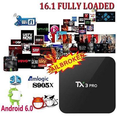TX3 Pro 4K S905x Smart TV Box Quad Core Android 6.0 IPTV 1G+8G WIFI Movie