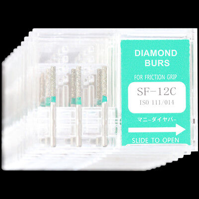 10 Boxes Sf-12c Mani Dia-burs For Dental High Speed Handpiece Diamond Burs Tooth