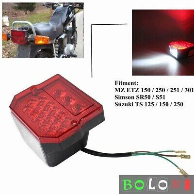 Rear Tail Light For MZ ETZ 150 250 251 301 Simson SR50 S51 Suzuki TS 125 150 250