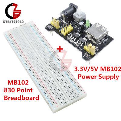 Mb102 Solderless Breadboard Pcb 830 Point Mb102 Power Supply Module 3.3v5v