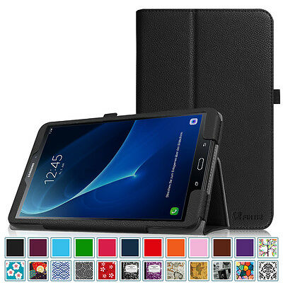 Samsung Galaxy Tab A 10 1 Case Leather Cover With Auto Wake Sleep Sm T580nzkaxar